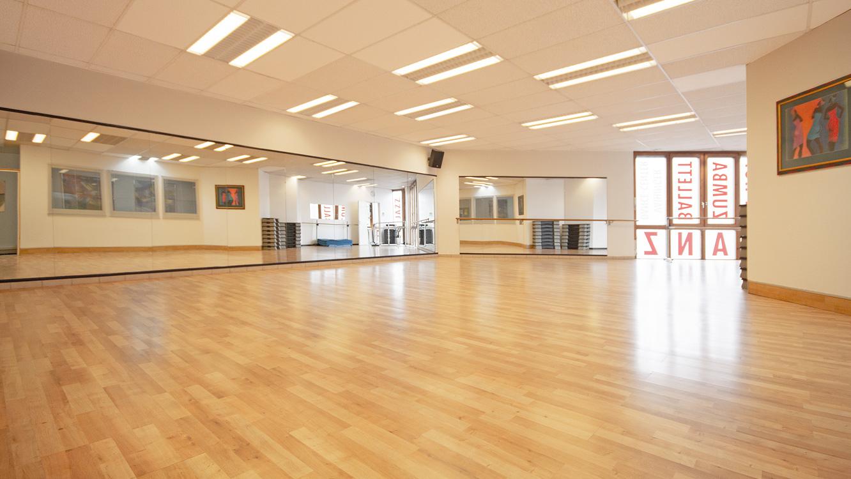 Unser geräumiger, heller Tanzsaal.